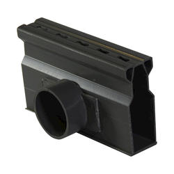 "Micro Channel 1-1/2"" Schedule 40 Spigot Bottom Outlet, Gray"