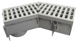 """5"""" Deep Profile Grate and Channel Drain 45 Degree Elbow"""
