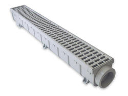 "5"" x 39"" Light Traffic Channel Drain Kit- Plastic Grate"