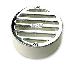 "3"" Round Polished Chrome Grate with PVC Collar"