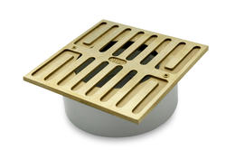 "5"" Square Brass Grate with Styrene Collar"