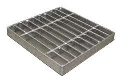 "9"" Square Galvanized Steel Grate"