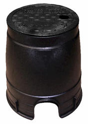 "6"" Round Box, Overlapping Solid Plastic Cover - Water Meter"