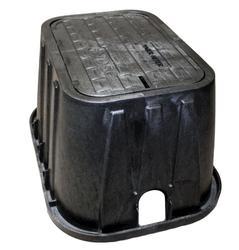 "14"" x 19"" x 12"" Box, Drop-in Locking Solid Plastic, Single Bottom Mount AMR Bracket Cover- Water Meter"
