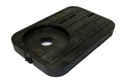 """14"""" x 19"""" Drop-In Locking Solid Plastic, Single 2"""" AMR/TR Hole with7"""" Top Recess Cover-Water Meter"""