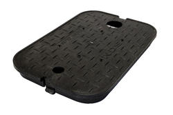 """14"""" x 19"""" Overlapping Solid Plastic with2"""" AMR/TR Hole Cover-Water Meter"""