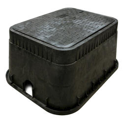 """13"""" x 20"""" x 12"""" Jumbo Box, Drop-In Locking Solid Plastic with Double Bottom Mount AMR Brackets Cover-Water Meter"""