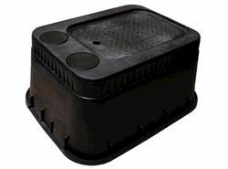 "13"" x 20"" x 12"" Jumbo AMR Box, Drop-in Solid Plastic Cover-Water Meter"