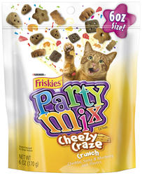 Friskies Party Mix Cheezy Craze Crunch Cat Treats - 6 oz