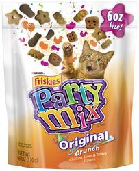 Friskies Party Mix Crunch Original Cat Treats - 6 oz