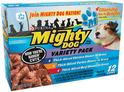 Mighty Dog Prime Cuts Wet Dog Food Variety Pack - 12-ct