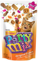 Friskies Party Mix Original Crunch Cat Treats - 2.1 oz