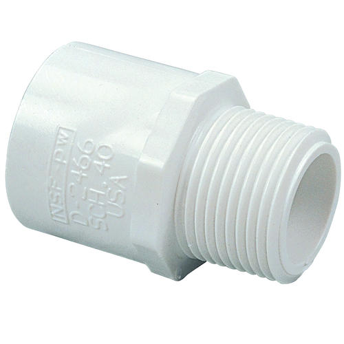 Quot male adapter pvc schedule