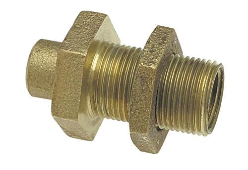 Copper alloy pressure bulkhead fitting at menards