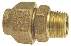 "1/2"" FLR x MIPT Copper Alloy Flared Adapter"