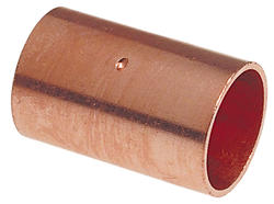 "5/16"" Copper Pressure Coupling with Dimple Stop"