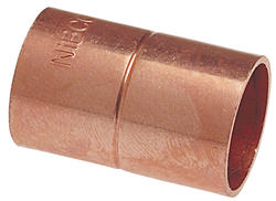 """7/8"""" Copper Pressure Coupling with Rolled Stop"""