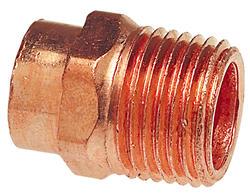 """1"""" X 3/4"""" Wrot Copper Pressure Male Adapter"""