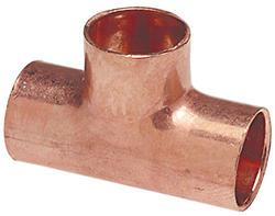 """11/8"""" x 5/8"""" x 11/8"""" Copper Pressure Heat Exchanger Tee"""