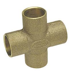 """3/4"""" Copper Alloy Pressure Cross"""