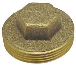 """3/4"""" MIPT Copper Alloy DWV Plug"""