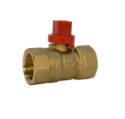 "NIBCO 1/2"" Gas Ball Valve - Female x Female Threaded, Square Handle"