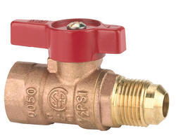 """NIBCO 1/2"""" Gas Ball Valve - Flare x Male, Lever Handle"""