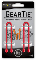 "6"" Red Gear Tie (2-Pack)"