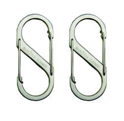 #1 Stainless Steel S-Biner (2-Pack)