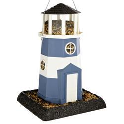 North States™ Large Nautical Blue and White Shoreline Lighthouse Bird Feeder