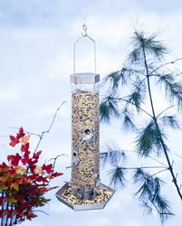 North States™ Silver Combo Bird Feeder with Tray