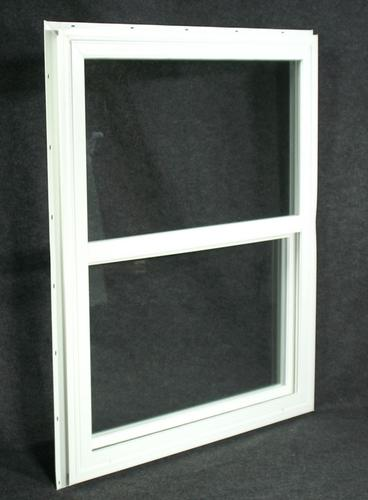 Northview insulated white vinyl single hung window w for Vinyl insulated windows
