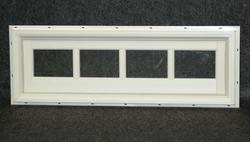 "Northview 36"" x 12"" White Vinyl Fixed Utility Barn Transom"