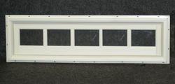 "Northview 48"" x 12"" White Vinyl Fixed Utility Barn Transom"