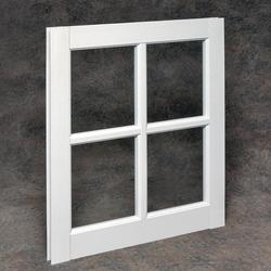 "Northview 22"" x 29"" White Vinyl 4-Lite Barn Sash with Single Pane Glass"