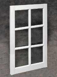 "Northview 22"" x 41"" White Vinyl 6-Lite Barn Sash with Single Pane Glass"