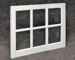 "Northview 31"" x 29"" White Vinyl 6-Lite Barn Sash with Single Pane Glass"