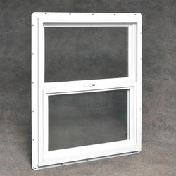 "Northview 30"" x 36"" White Vinyl Single Hung Utility Window with Single Pane Glass"