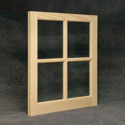 "Northview 22"" x 41"" Unfinished Wood 6-Lite Barn Sash with Single Pane Glass"
