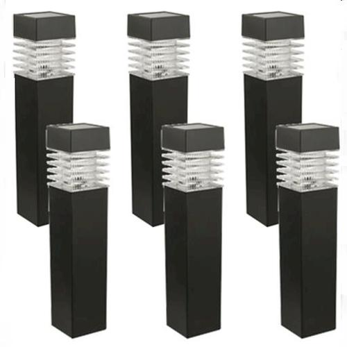 Patriot lighting low voltage led square bollard path for Low voltage walkway lighting sets
