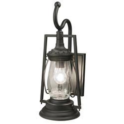"""Patriot Lighting® Keros 20-7/8"""" Black 1-Light Coach Outdoor Wall Light"""