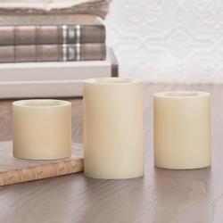 """Inglow 3"""", 4"""" and 5"""" Vanilla Flameless Pillar Candles - 3 pk."""