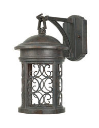 "Patriot Lighting Parlan Dark Sky 13"" Mediterranean Patina Outdoor Wall Light"