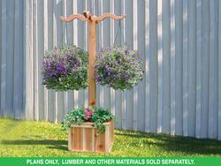PLAN H097D-0015 Hanging Planter Box Plans Only
