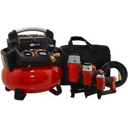 Fini PRO 6-Gallon Compressor + 3 Gun Combo Kit