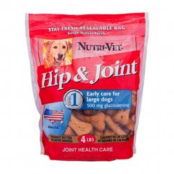 Nutri-Vet® Peanut Butter Hip and Joint Level 1 Chewables for Large Dogs - 4 lb.
