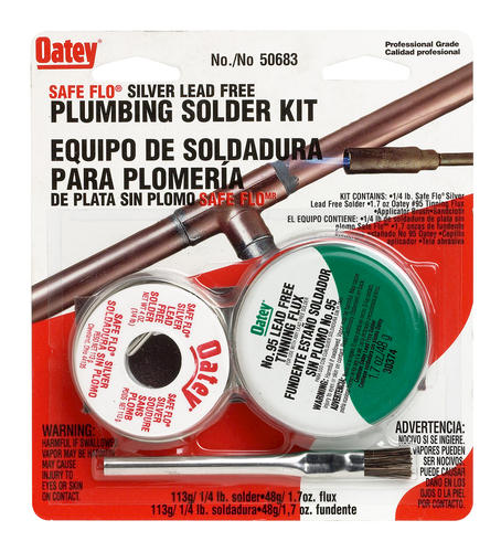 "Safe Flo Silver Lead Free Plumbing Kit, .117"""