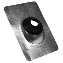 """9"""" x 12.5"""" Standard Galv. Base No-Calk® Roof Flashing for 2"""" Pipe"""
