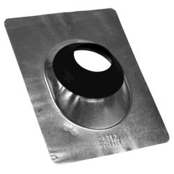 """12"""" x 15"""" Standard Galv. Base No-Calk® Roof Flashing for 4"""" Pipe"""