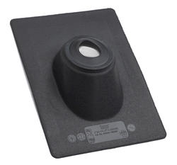 """9.25""""x13"""" Std Thermoplastic Base No-Calk® Roof Flashing for 2"""" Pipe"""
